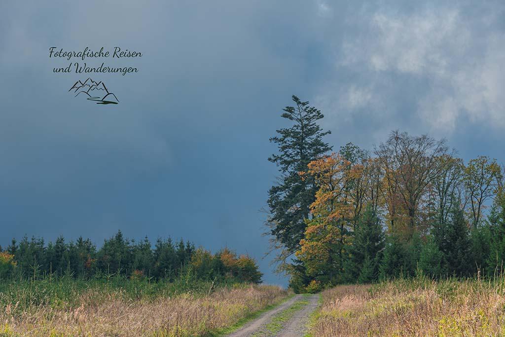 Schotterwege bei bedecktem Himmel in der Eifel