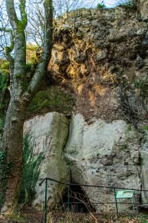 Kakushöhle am Nachmittag im Winter