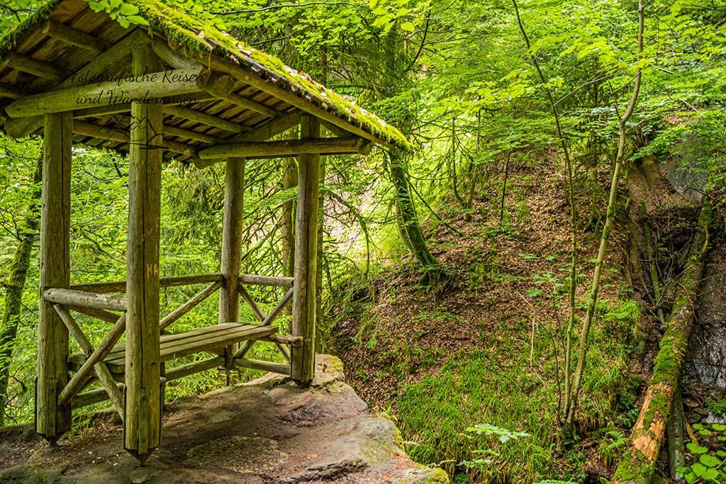 Hütte am Hinauf zum Sankenbach Wasserfall