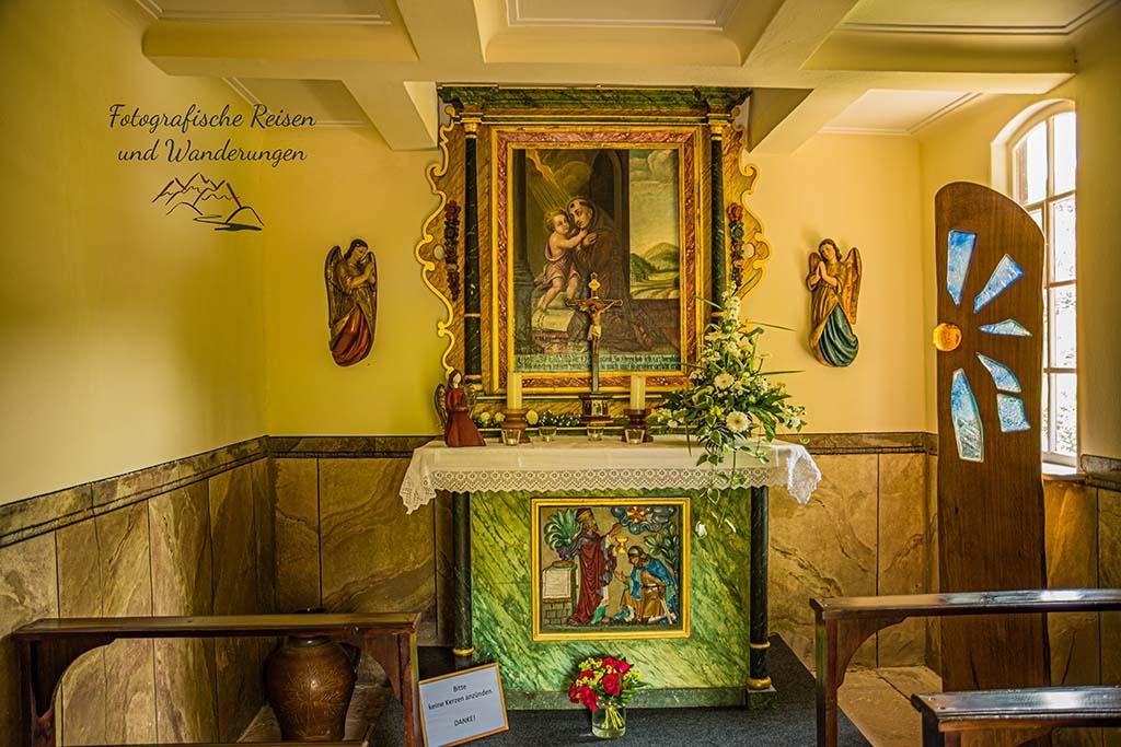 Im Inneren der St. Antonius Kapelle Bad Griesbach