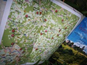 Übersichtskarte Westerwald - Wanderungen für die Seele - Westerwald