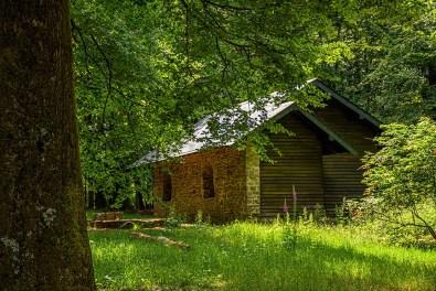 Schutzhütte in der Kernburg Otzenhausen