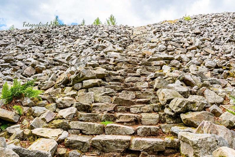 Steintreppe auf Ringwall