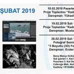 Şubat 2019 ayı etkinlik programımız