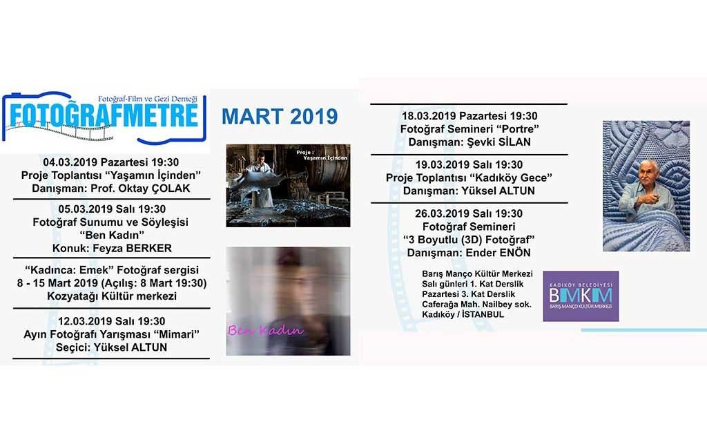 Mart 2019 etkinlik programımız