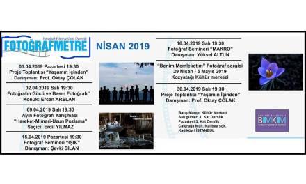 Nisan 2019 Etkinlik programımız