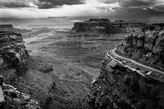 Shafer Canyon Viewpoint, zaraz na początku kanionowych atrakcji.