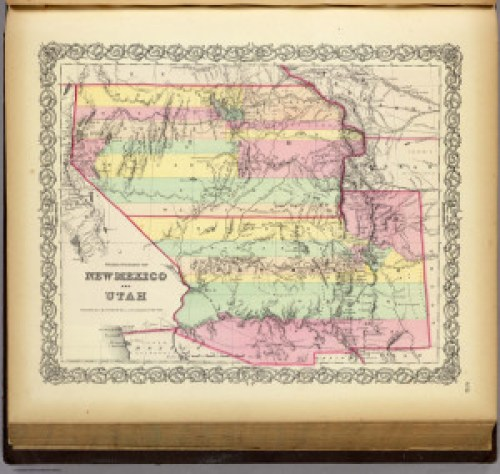 Territories of New Mexico and Utah, J.H. Colton, New York, 1856. From the David Rumsey Historical Map Collection, Cartography Associates, under Creative Commons license.