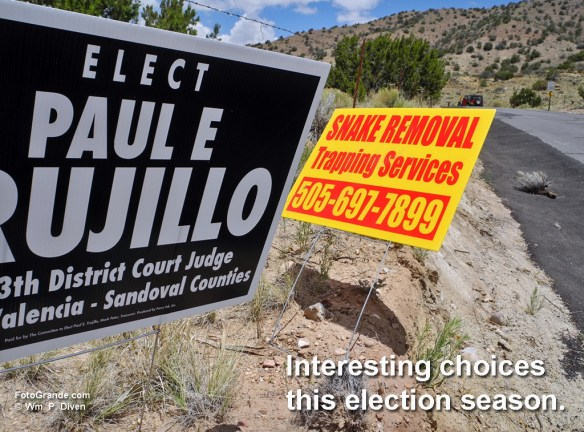 On the New Mexico campaign trail. © William P. Diven.