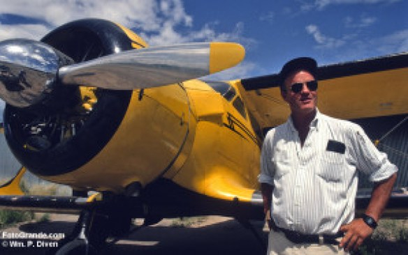 Tom Mayer and his Staggerwing, 1992. © William P. Diven.