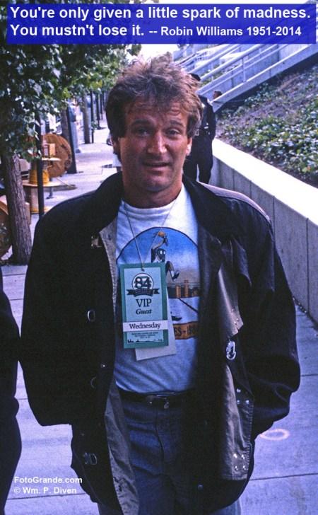 Robin Williams, San Francisco, 1984. Photo © William P. Diven.