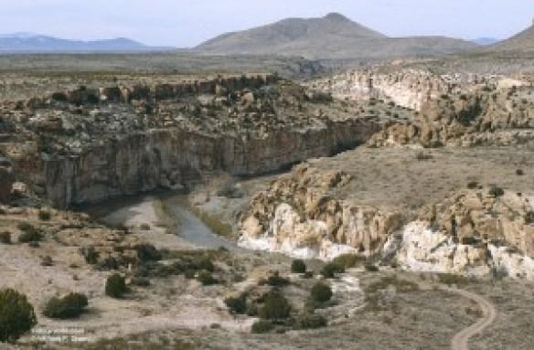 Gila River Lower Box in the dam project area. Photo © William P. Diven.