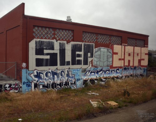Graffiti abounds south of San Jose, Calif. Photo © William P. Diven. (Click to enlarge.)