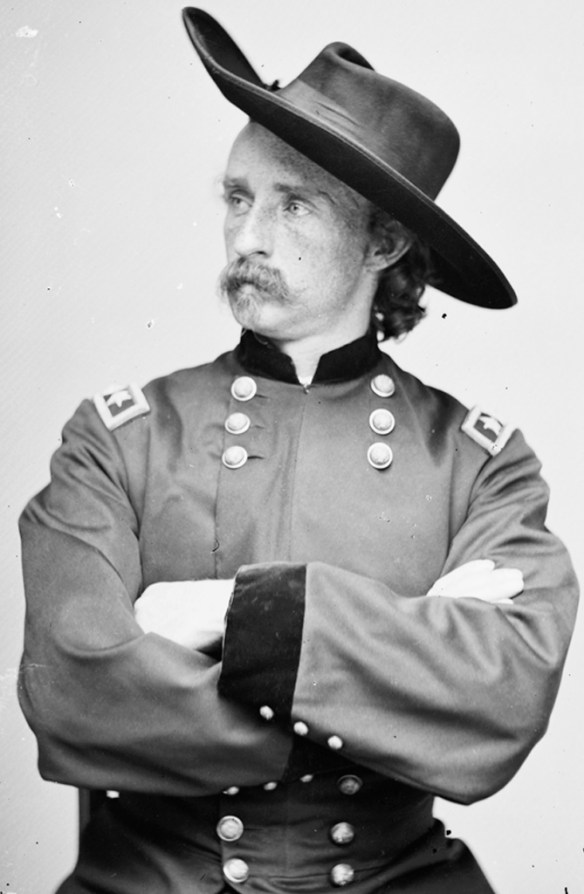 Lt. Col. George Armstrong Custer, 1865, in uniform of brevet major general.