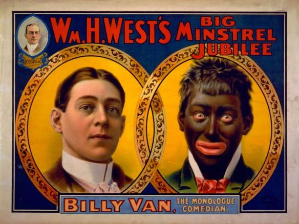 Blackface minstrel poster ca. 1900.