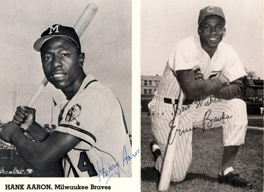 Hank Aaron and Ernie Banks, 1963.