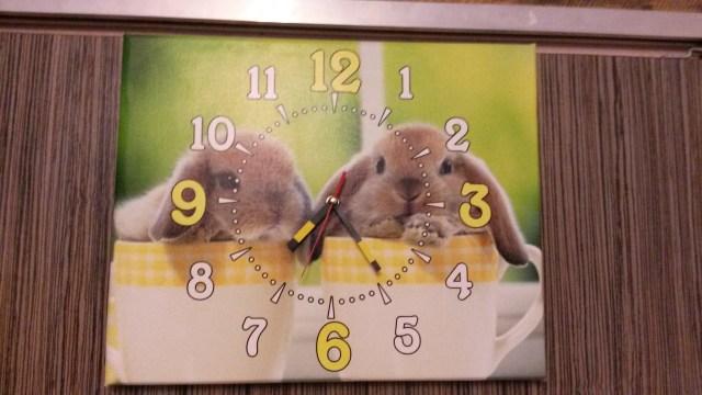фотокартина с часами в детскую