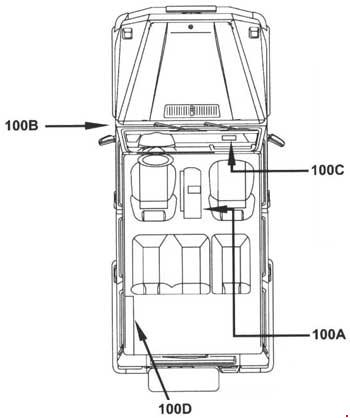 '90-'97 Mercedes G-Class (W463) Fuse Box Diagram