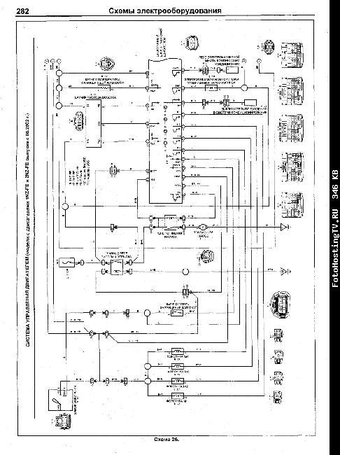 Схемы электрооборудования Toyota Funcargo 1999-2007 гг