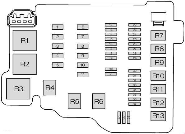 Ford Fiesta VI (2008-) fuse box diagram