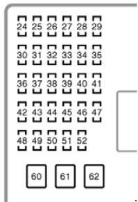 Toyota Camry XV30 fuse box diagram (2001—2006) » Fuse Diagram