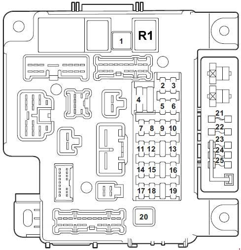 2013 mitsubishi outlander sport fuse box diagram