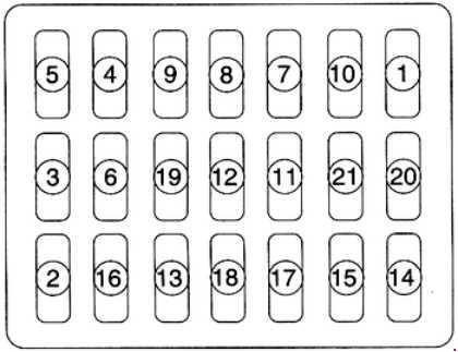 Схема предохранителей Kia Clarus » Схемы предохранителей
