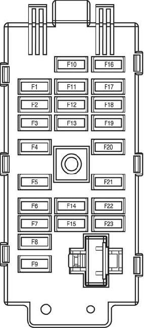 2000-2006 Chevrolet Epica / Evanda Fuse Box Diagram » Fuse