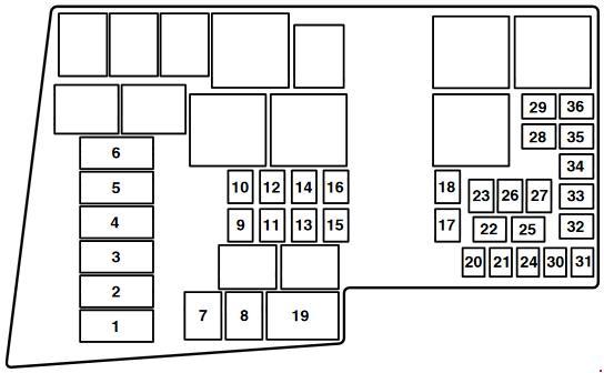 Mazda 3 (BK) fuse box diagram (2003-2008) » Fuse Diagram