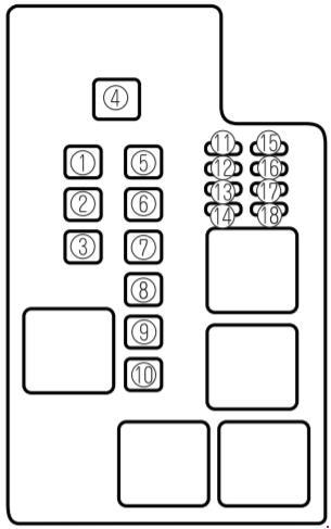 '97-'02 Mazda 626 Fuse Box Diagram