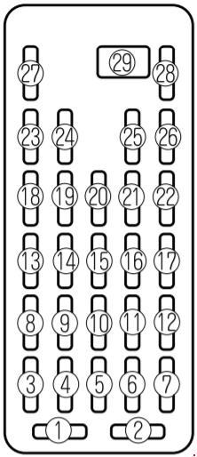 Mazda Millenia (1995-2002) fuse box diagram » Fuse Diagram