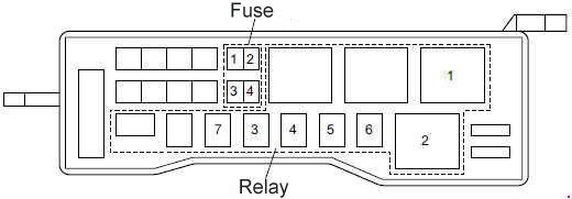 Isuzu N-Series fuse box diagram » Fuse Diagram