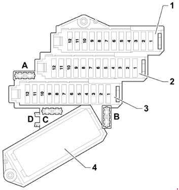 '05-'15 Audi Q7 Fuse Box Diagram
