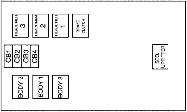 2007-2014 Cadillac Escalade (GMT900) Fuse Box Diagram
