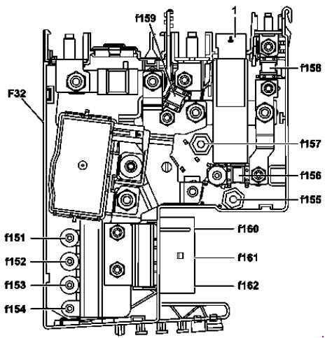2007—2014 Mercedes-Benz W204 (C-Class) fuse diagram » Fuse