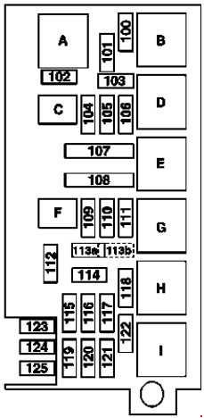 '05-'11 Mercedes ML-Class (W164) Fuse Box Diagram