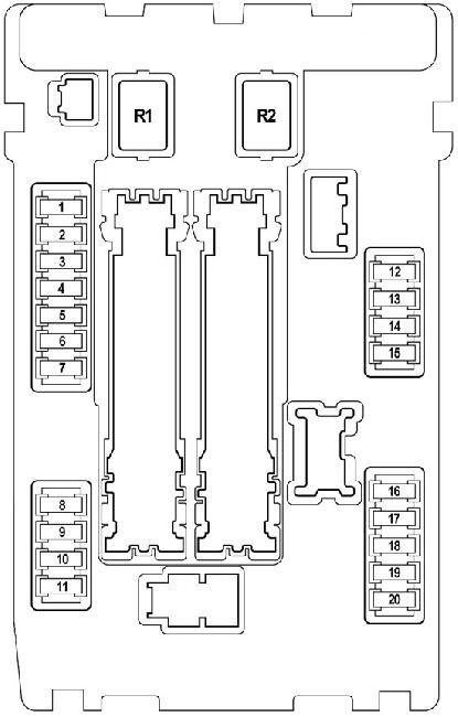2008-2014 Nissan Teana J32 fuse box diagram » Fuse Diagram