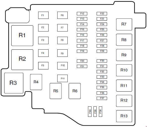2013 ford fiesta fuse diagram