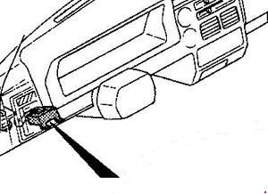 1985–1998 Mazda B2000, B2200, B2600 Fuse Box Diagram