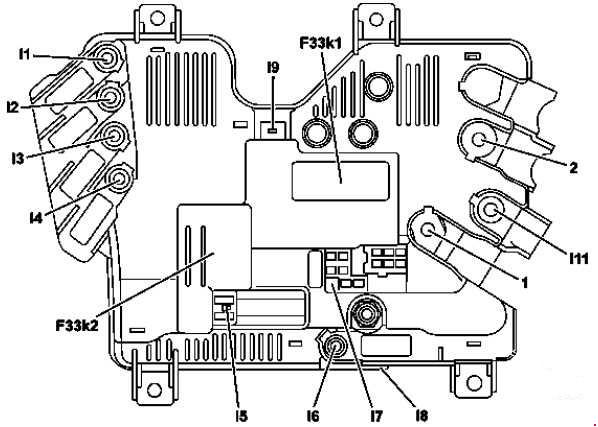 2014-2018 Mercedes-Benz W222 and C217 Fuse Box Diagram