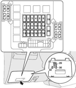2006–2015 Mitsubishi Pajero Fuse Box Diagram » Fuse Diagram