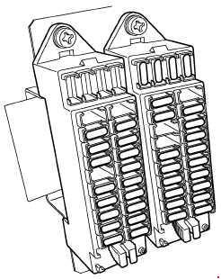 Kubota M100GX, M110GX, M126GX, M135GX Fuse Box Diagram