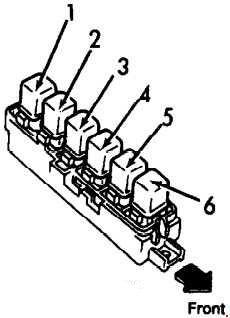 1990-1996 Infiniti G20 (P10) Fuse Box Diagram » Fuse Diagram