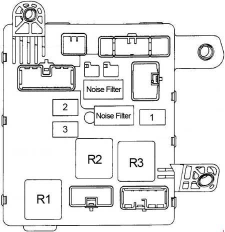 1991-1996 Toyota Camry XV10 Fuse Box Diagram » Fuse Diagram