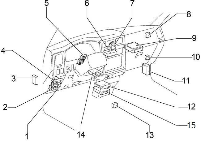 '01-'04 Toyota Tacoma Fuse Box Diagram