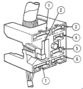 '69-'70 Ford Mustang Fuse Box Diagram