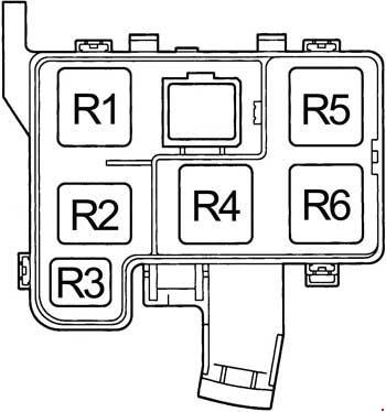 1994-1997 Toyota RAV4 (SXA1) Fuse Box Diagram » Fuse Diagram