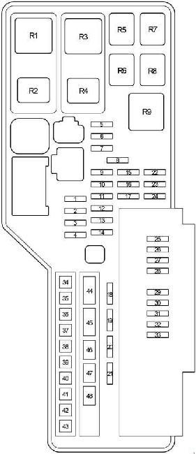 2006-2012 Lexus ES 350 (XV40) Fuse Box Diagram » Fuse Diagram