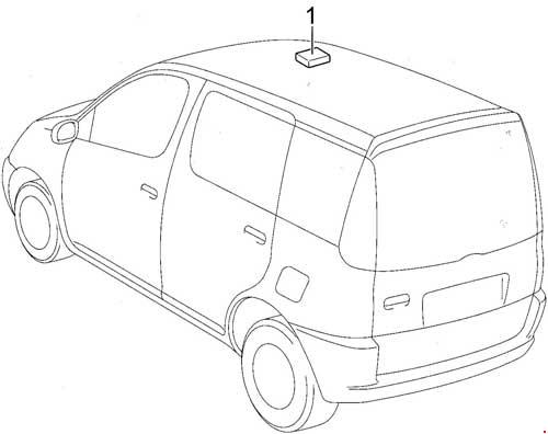 Toyota Yaris Verso and Echo Verso Fuse Box Diagram » Fuse