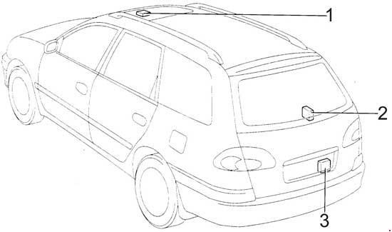 Схема предохранителей и реле Toyota Avensis / Corona (1997